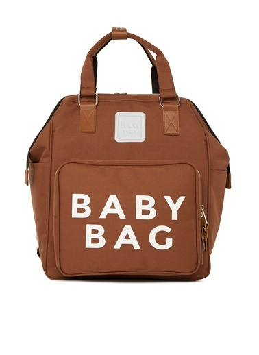 Bagmori Baby Bag Baskılı Cepli Anne Bebek Bakım Sırt Çantası M000005163 Taba
